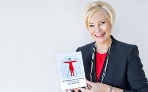 Karen Morley with book : Gender Balanced Leadership