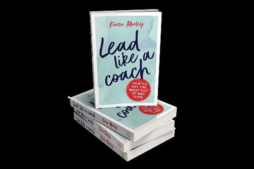 Lead Like a Coach stack of 4 books